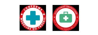 pictos, trousses de secours conforme à la medecine du travail, obligatoires sur tout les lieux de travail